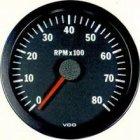 VDO Tachometer, 8,000 revs